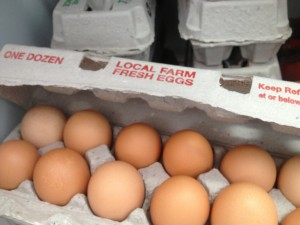 fresh, organic eggs from Leeds...