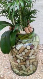 Wine corks in glass...