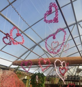Wire Hearts for Valentine's Day...