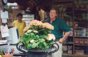 An Early Container Plantings...Billy with Eun Joo Early 90s...