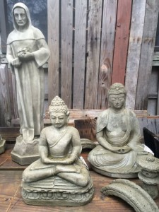 Statuary St Fiacre and Buddhas 2016