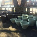 Lightweight Green Planters - Spring 2016