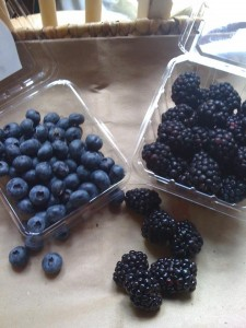 blackberries have arrived - blueberries won't be far behind!