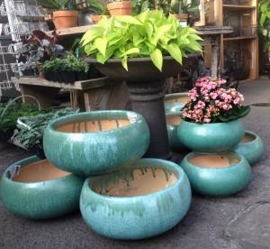 glazed bowls...