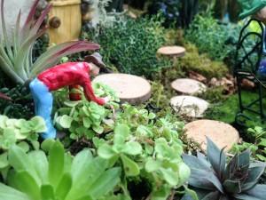 Tending the garden...