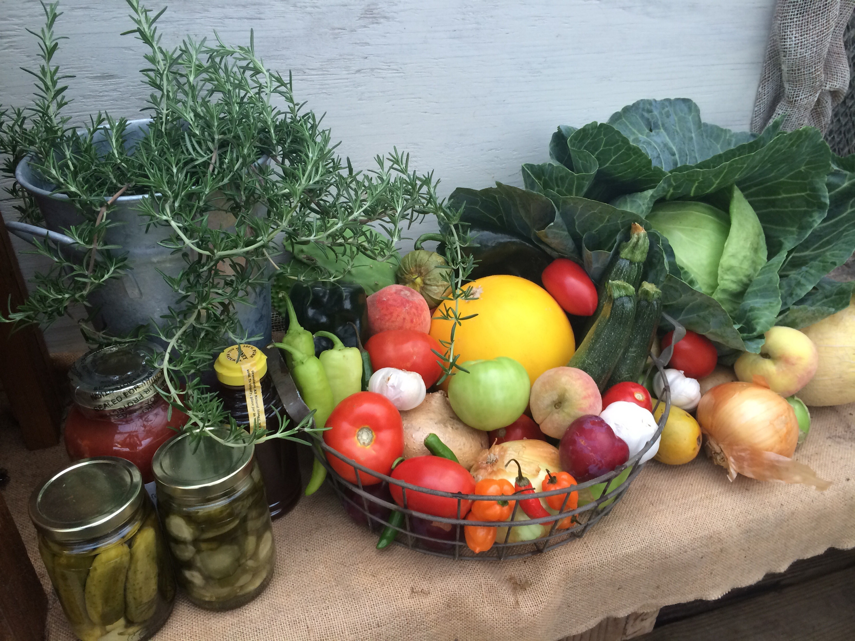 Fresh Fruit, Veggies, Pickles, Soup and Honey - June 2014