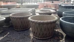 Cast stone planters - 2015