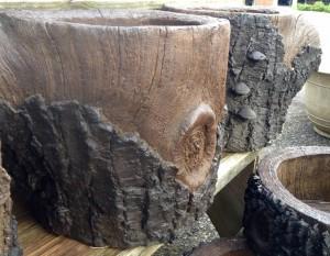 Cast stone Faux Bois Planter - 2015