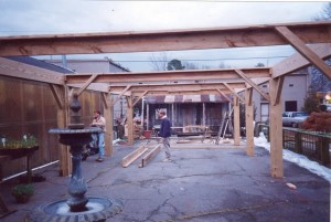 Billy and Jon Culver...building the shadehouse