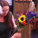 The bouquet...