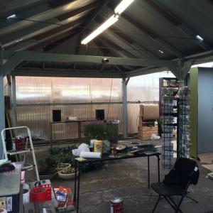 The New Work Area In Progress
