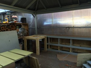 Potting Bench and Storage - New Work Area