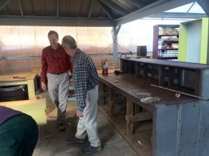 New Work Area - Billy and friend, Pratt