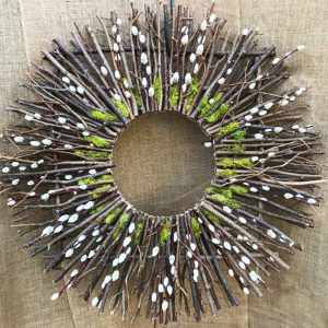 Twig and Pussywillow Wreath