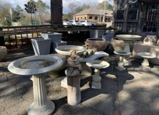 Planters, Birdbaths, & Statuary